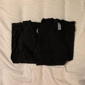 American Apparel 50/50 shirts - worn once! EUC